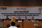 RAPAT PLENO TERBUKA REKAP HASIL SUARA BUPATI 2018